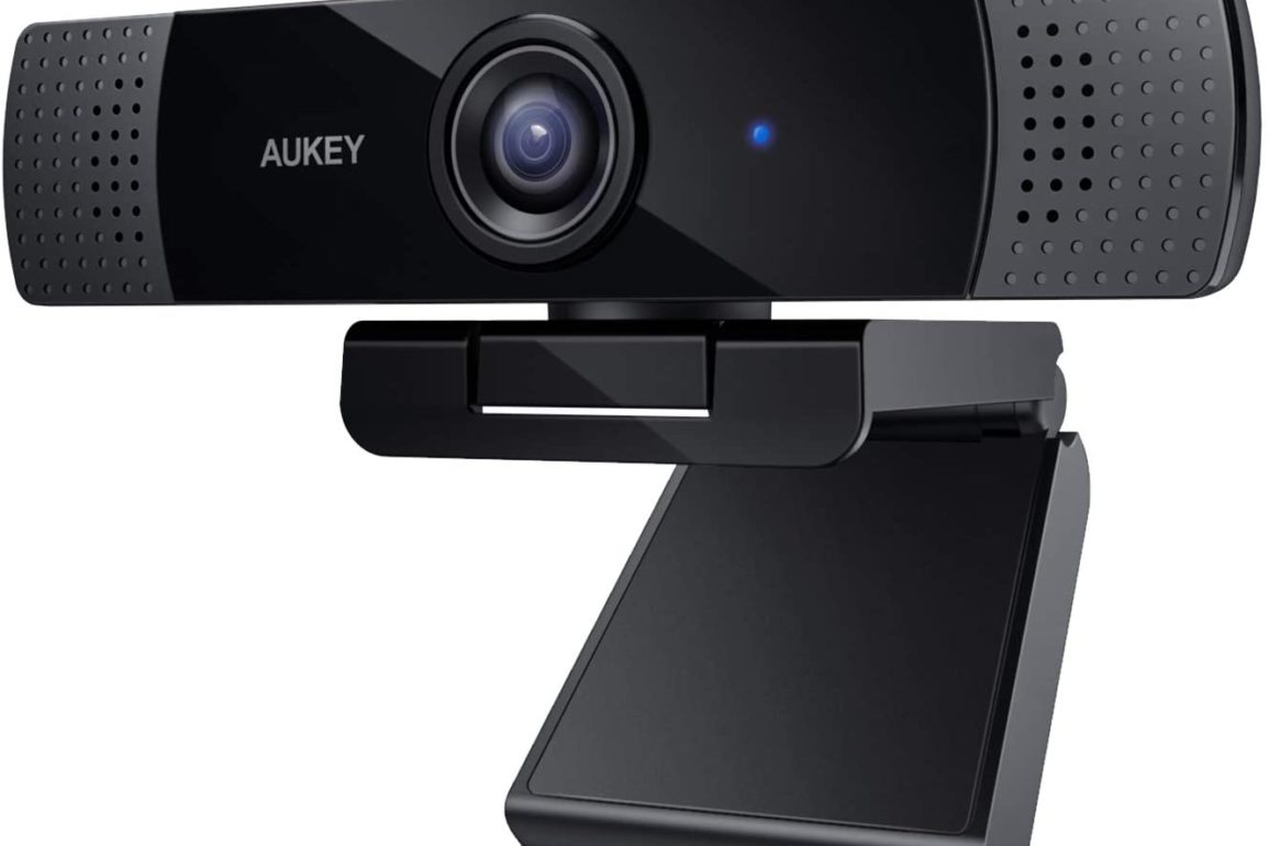AUKEY PC-LM1E FHD Webcam, 1080p Live Streaming Camera with Stereo Microphone