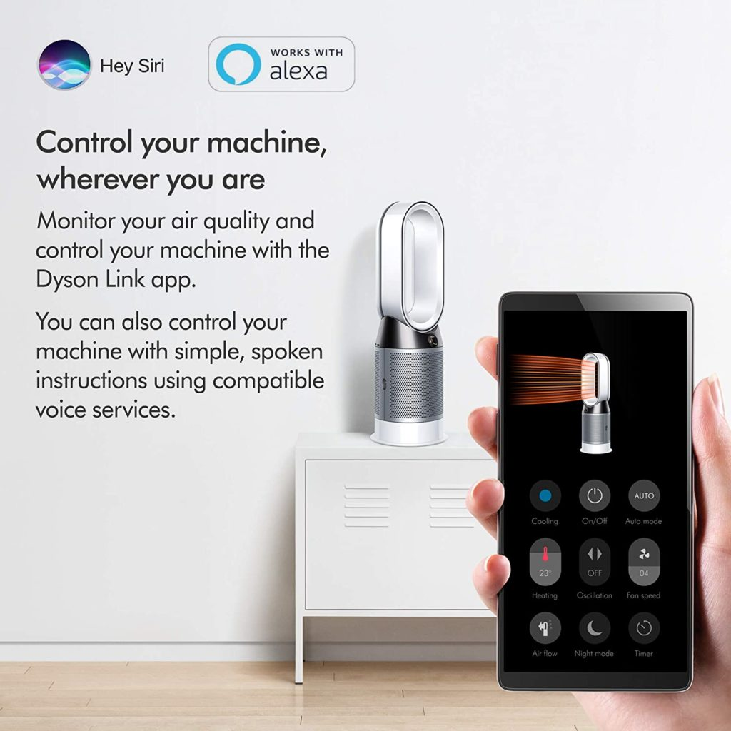 Dyson Pure Hot + Cool Air Purifier, Heater + Fan Siri and Alexa enabled