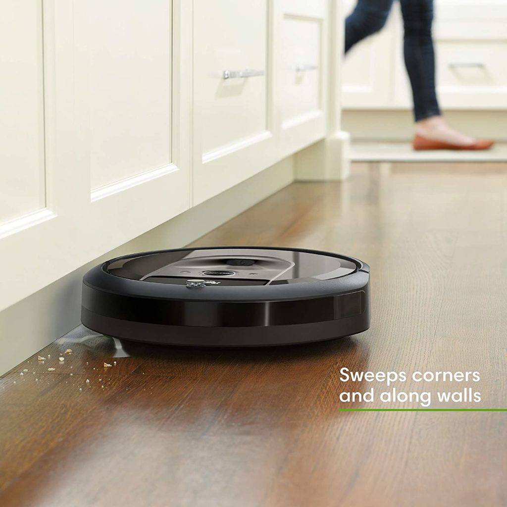 iRobot Roomba i7+ (7550) Robot Vacuum with Automatic Dirt Disposal sweeps corners and along walls