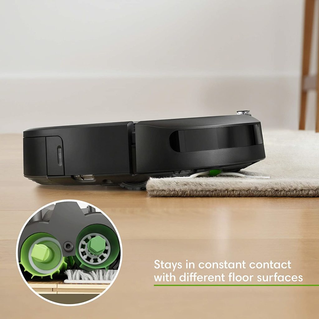 iRobot Roomba i7+ (7550) Robot Vacuum with Automatic Dirt Disposal different floor surfaces