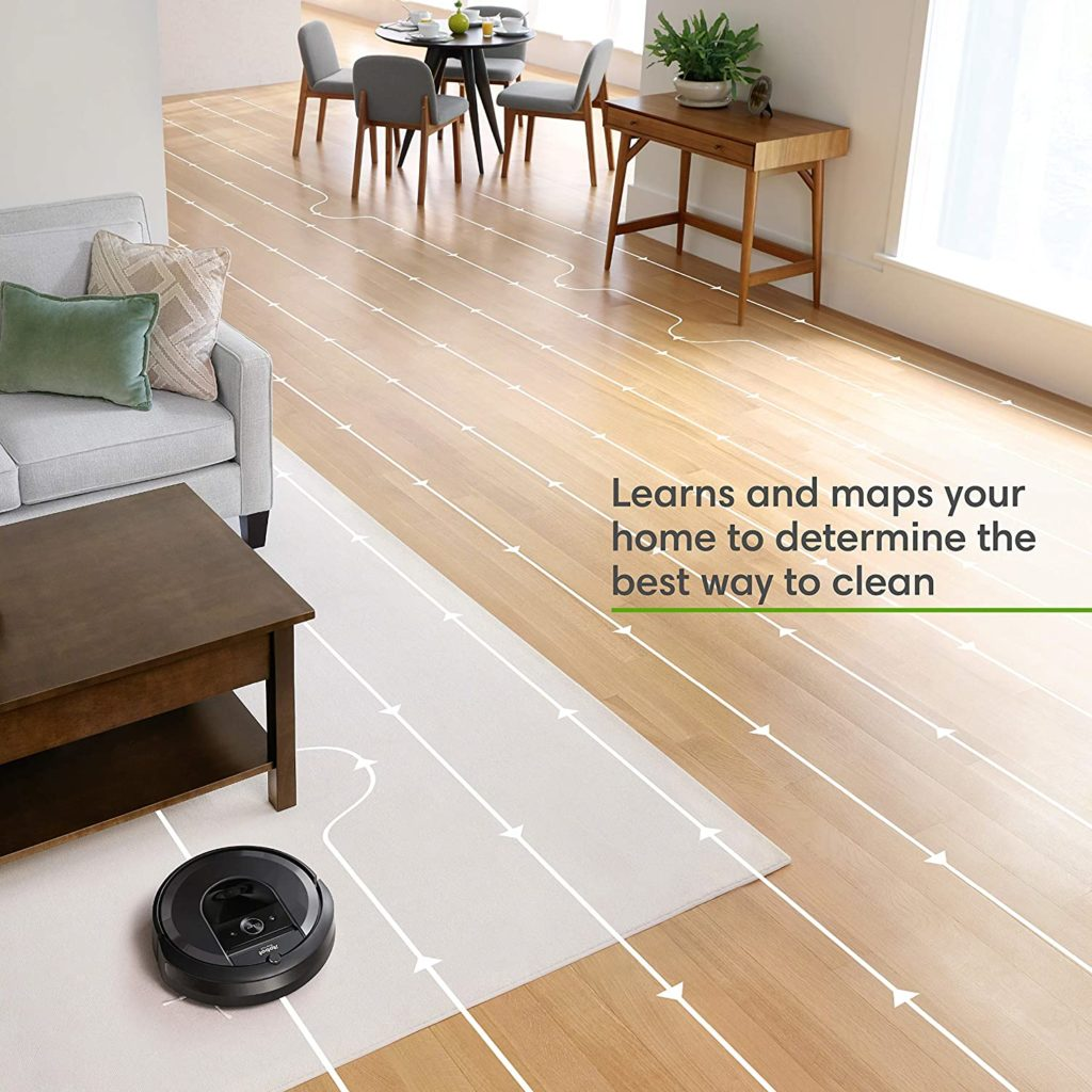 iRobot Roomba i7+ (7550) Robot Vacuum with Automatic Dirt Disposal learns and maps your home