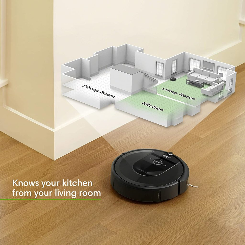 iRobot Roomba i7+ (7550) Robot Vacuum with Automatic Dirt Disposal knows your rooms