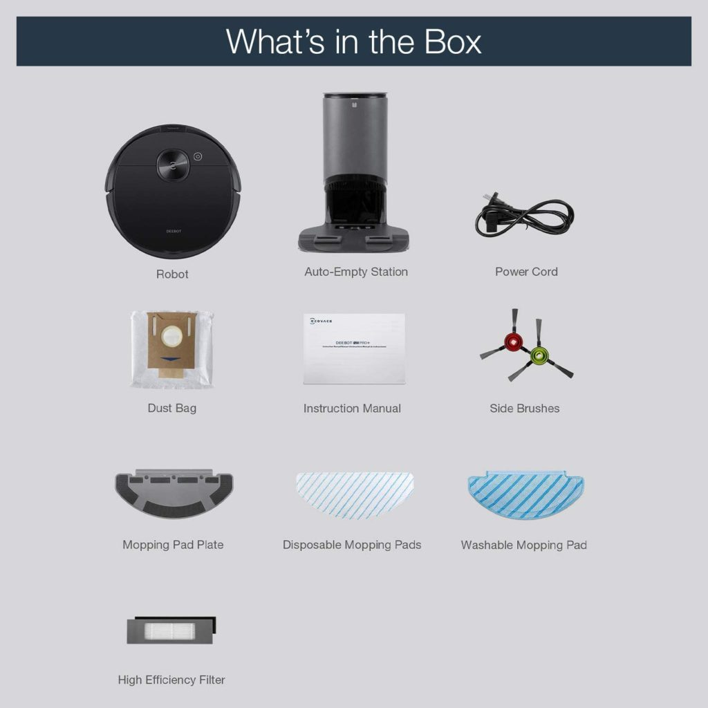 Ecovacs Deebot N8 Pro+ scope of delivery