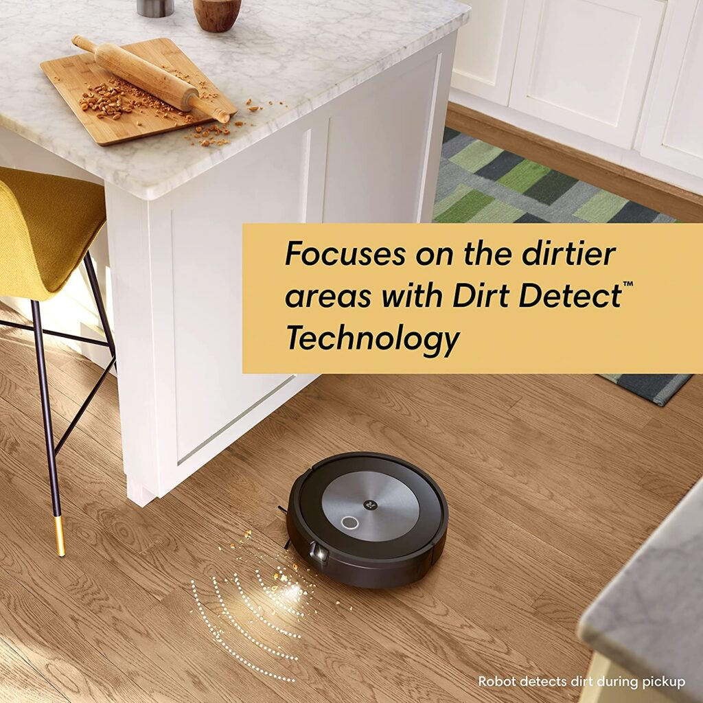 iRobot Roomba j7+ (7550) Focuses on the dirtier areas with Dirt Detect Technology